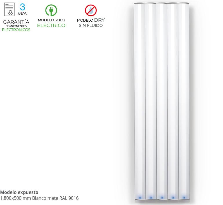 radiador zeta series vanity eléctrico